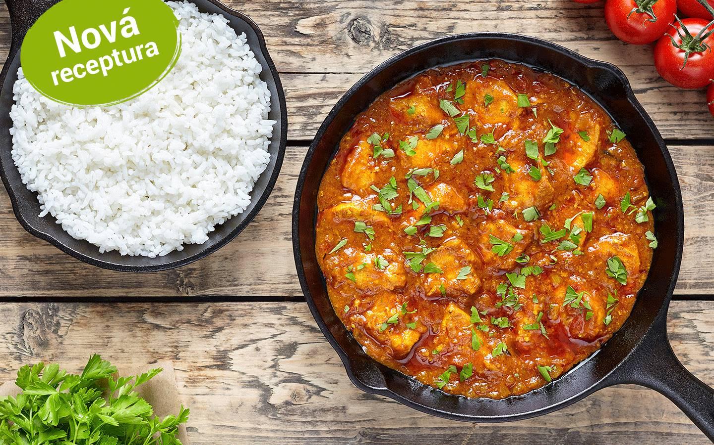 Kuřecí karahi s bashmati rýží od kuchaře Rameshe z Indie