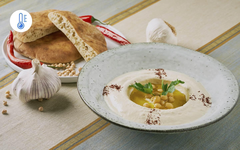 Hummus,  pita chléb