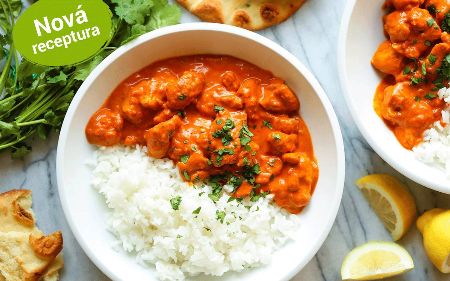 Butter chicken a basmati rýže