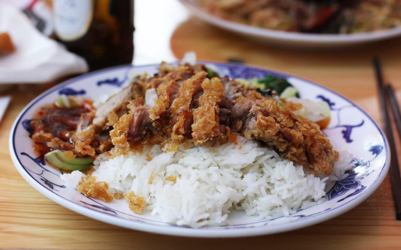 Pekingská kachna s rýží